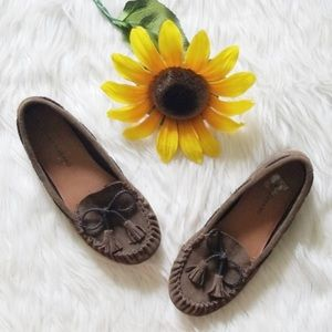 Lucky Brand Brown Suede Slip On Moccasins
